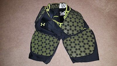 Under Armour YLG Youth Large Football Compression Shorts - Padded Fitted Boys