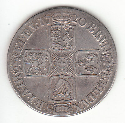 1720 Great Britain George I Sterling Silver Shilling.
