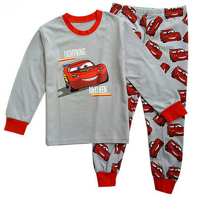 Kids Boys Girl Lightning McQueen Pajamas Sleepwear Nightwear Pyjamas Clothes Set