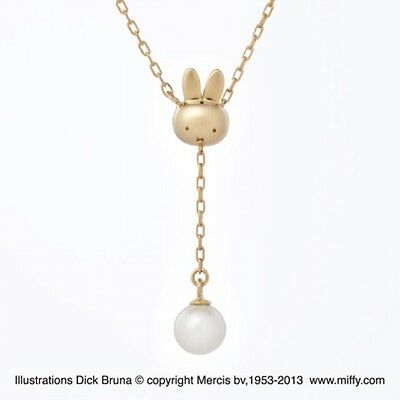 Miffy necklace pendant from Japan (yellow gold)?NEW!
