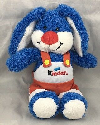 Blue White Bunny Rabbit Overalls Kinder Surprise Plush Candy Egg Toy Ferrero