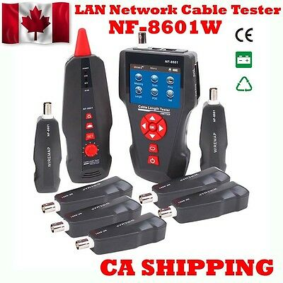 CA Ship NF-8601W Network Wire Tracker Cable Tester RJ45 RJ11 BNC POE PING