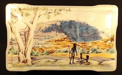 1950's Vintage Aust Allen's Ltd Confectionery Tin Racist Aboriginal Walkabout.
