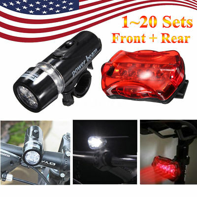 LOT 20 Waterproof Lamp Bike Bicycle Front LED Head Light Rear Safety Flashlight
