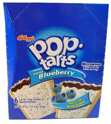 Kelloggs Pop Tarts - Frosted Blueberry (6 pouches of 2 x 100g toaster pastries)