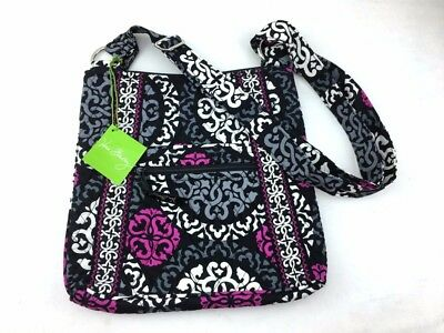 New with tags Vera Bradley Large Hipster Crossbody Bag in Canterberry Magenta