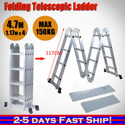 4.7m Multi-Purpose Ladder Aluminium Extension Folding Adjustable Step AUS SYDNEY