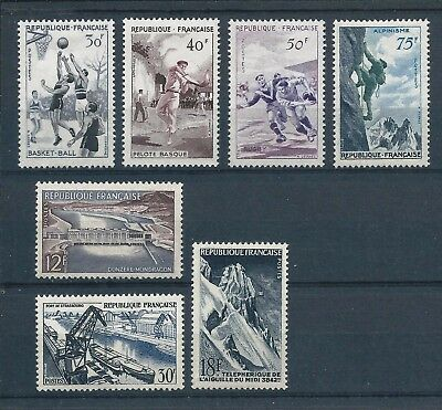 France 1956 Sports & Technical Achievements sets Mint Hinged CV £60- see text