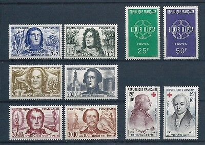 France 1959 Red Cross Funds & Europa sets Mint Hinged CV £23.50