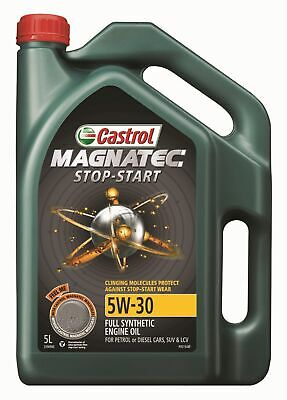 Castrol MAGNATEC 5W30 Stop Start Full Synthetic Engine Oil 5L 3396960 fits Au...