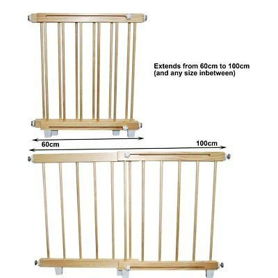 NEW Sunbury - Wooden Barrier - Small 60cm - 100cm from Baby Barn Discounts