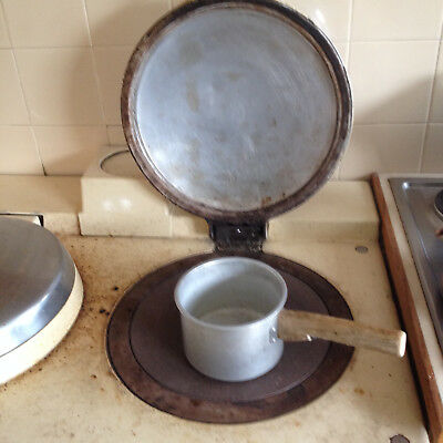 "GENUINE AGA ALUMINIUM 6"" 150mm SAUCEPAN  WOODEN HANDLE VINTAGE"