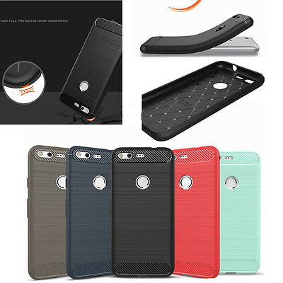 Luxury Shockproof Matte Brushed Carbon Fiber Case Cover For Google PIXEL 2 XL