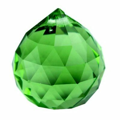 30mm Green Crystal Ball Prisms Ball Lamp Pendant DIY Crafts Home Decor