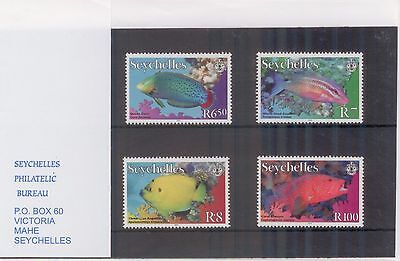 Seychelles stamps 2010-2012 - Fish MNH w Cover of Seychelles Philatelic Bureau