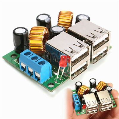 4-USB Port Step-down Power Supply Converter Board Module DC 12V 24V 40V to 5V 5A