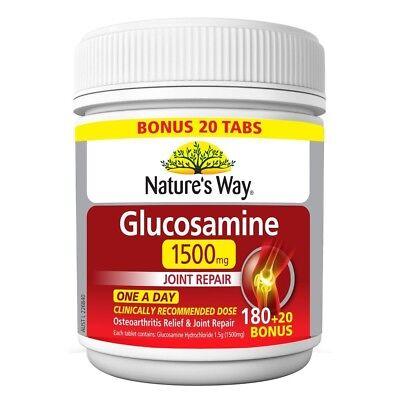 Nature's Way Glucosamine 1500mg Joint Repair Osteoarthritis Relief 200 Tablets