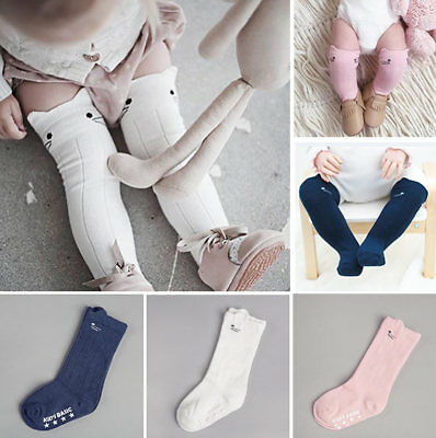 Baby Boy Girl Toddler Cotton Socks Tights Leg Warmers Knee Pad Stockings 0-4Y