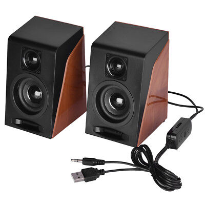 2x USB Powered Computer Stereo Speakers With Subwoofer System For Desktop PC