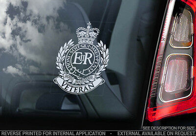 British Corps of Royal Engineers Veteran - Car Window Sticker - Military Decal