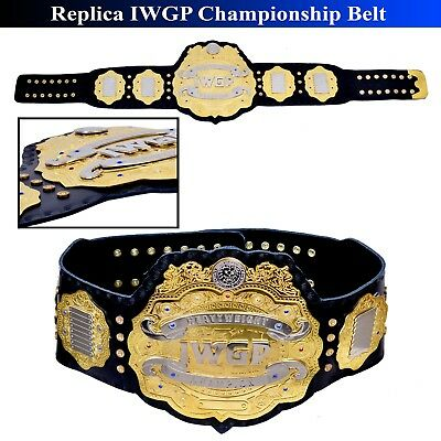 """Iwgp Heavy Weight Championship Replica Belt Thick Metal Plates Adult Size 51"""""""