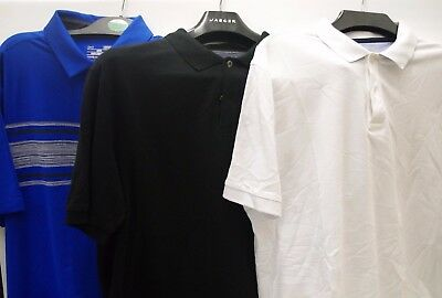 3 X Mens Polo T Shirts 2 Black & White M & S & 1 Blue Under Armour All Size L