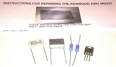 Kenwood Chef A901 Mixer Repair Kit - Capacitors, Resistors, Triac & Instructions
