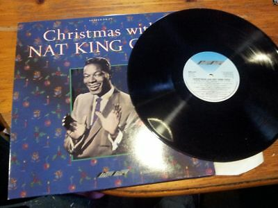 Christmas With Nat King Cole Lp! Vinyl Record! Smr 868! Stylus Music! Charity!