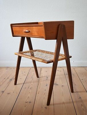 Danish Mid-Century Teak Night Stand. 1950's.