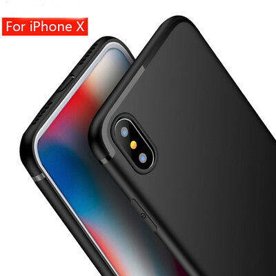 For Apple iPhone X 8 Plus Case Thin Matte Silicone Shockproof Phone Cover Skin