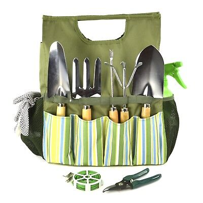 Plant Garden Tools with Bag Gardener Planting Lawn Cultivation Gloves Fork Spray