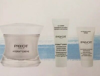 PAYOT 50ml Hydra24 Face Cream 25ml Body Cream 15ml Scrub Perfect Moisturiser Set
