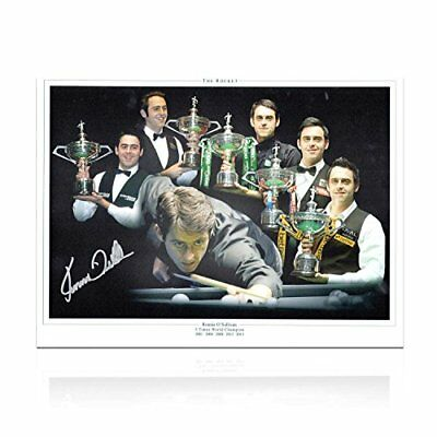 Ronnie O'Sullivan Signed Snooker Photograph: Five Times World Champion Montage
