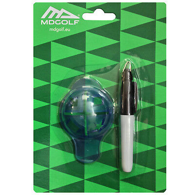 MD Golf Ball Marker Set Pen New Alignment Drawing Line Sign Tool Waterproof
