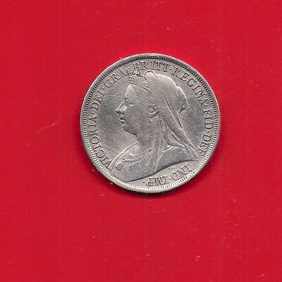 Rare 1893 Queen Victoria First  Old Head Silver Crown= L V I  Must Look