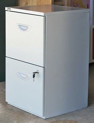 Office One 2 Drawer Steel Filing Cabinet With 2 Keys & File Folders Pickup Only