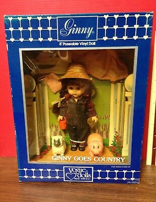 "1984 Ginny Goes Country 8"" Doll Shirley's Doll House Ltd. Ed. By Vogue Dolls"