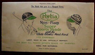 The Portia Super Sports Shade c.1930s. Unused in original packet. Golf, tennis