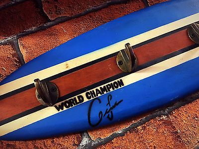 Wooden Surfboard With Hooks Decorative Wall Art Plaque Surfing 🏄
