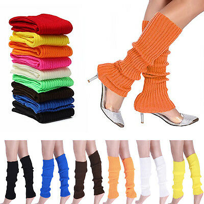 Womens Warm Socks Ladies Cable Long Leg Girls Knitted Crochet Warmers Winter