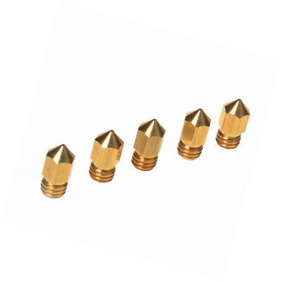 Kamo 5PCS 3D Printer 0.4mm Extruder Brass Nozzle Print Head for MK8 1.75mm ABS P