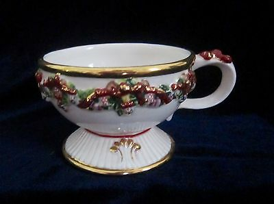 Waterford Holiday Heirlooms Christmas Footed Cup - 2.5 inches tall