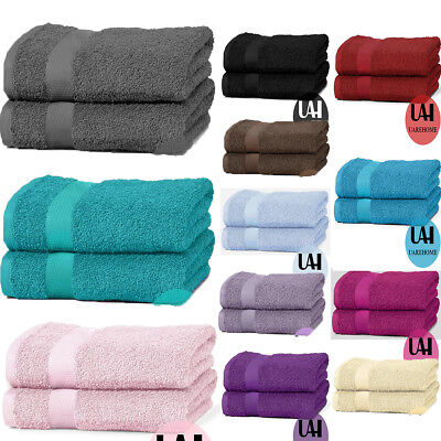Set Of 2 650 Gsm Pure Egyptian Cotton Towels Bathroom Gift Set Jumbo Sheet Bale