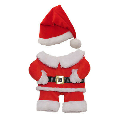 Christmas Santa Dress Up Dog Puppy Costume With Hat Xs - Med Gift Idea