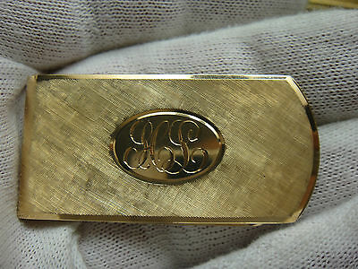 14K  All Solid Heavy Yellow Gold Vintage Money Clip Beautiful  Condition 16.7Gr