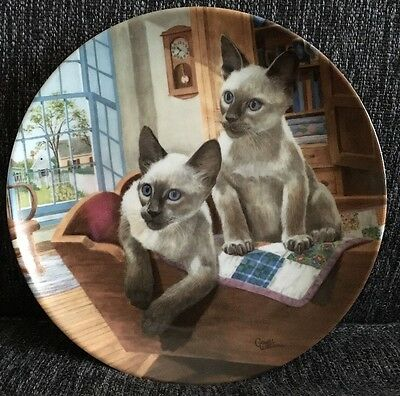 Kaiser Porcelain American Cats Kits-in-a-cradle Plate By Gerald Williams Ltd Ed