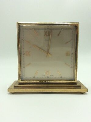 Vintage Cartier 8 Day Swis Made Double Sided Clock, English & Roman, WORKING