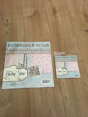 "Riddersholm Design Be a Baby Star 12""x12"" Paper Pack and 6x6 pack"