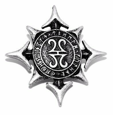 Viking Norse Gods Chaos Star / Compass Viking Pewter Rivet Concho