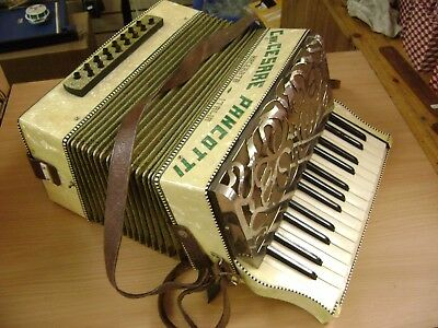Vintage Italian Accordion Cav. Cesare Pancotti With Case